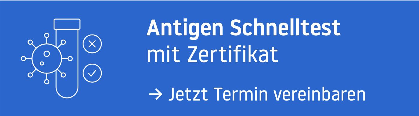 Covid-Zertifikat Antigentest